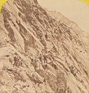 France Alps Mauvais Pas Old Stereo Photo Tairraz 1880
