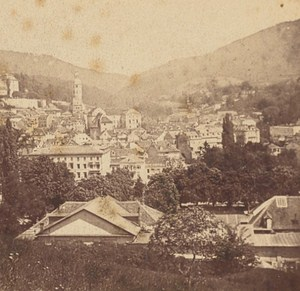 Germany Baden Baden Panorama Old Photo Stereo 1880