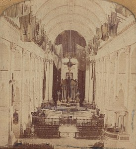 France Paris Hotel des Invalides Interior Old Photo Stereoview Tissue GAF 1865