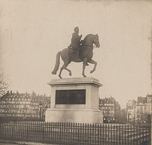 France Paris Henri IV Statue Old Stereo Photo SIP 1900