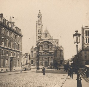 France Paris Saint Etienne Church Old Stereo Photo SIP 1900