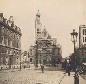 France Paris Saint Etienne Church Old Stereo Photo SIP 1900