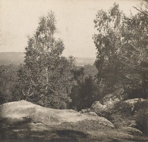 France Fontainebleau Mont Chauvet Old Stereo Photo SIP 1900