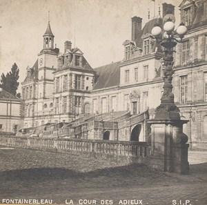 France Fontainebleau Castle Cour des Adieux Paris Old Stereo Photo SIP 1900