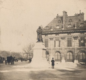 France Paris Seine Statue Old Stereo Photo SIP 1900