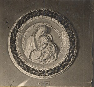 Italy Firenze Della Robbia Sculpture Old Stereo Photo SIP 1900