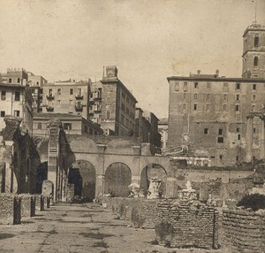 Italy Roma Basilica Julia Ruins Old Stereo Photo SIP 1900