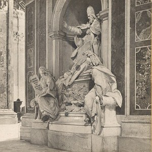 Italy Roma St Peter Georges XIII Tomb Old Stereo Photo SIP 1900