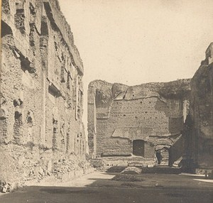 Italy Roma Caracalla Therms Old Stereo Photo SIP 1900