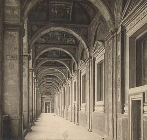 Italy Roma vaticano Raphael Loggia Old Stereo Photo SIP 1900