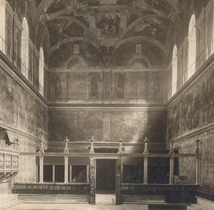 Italy Roma Vaticano Sixtine Chapel Old Stereo Photo SIP 1900