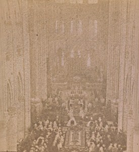 Paris Notre Dame Chuch Weeding France Old Stereo Photo 1890