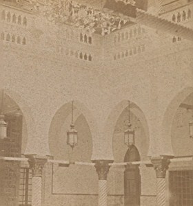 Algier Governor Palace Algeria Italy Old Stereo Photo 1890