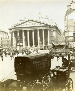 Royal Exchange London Animated England Old Snapshot photo 1900