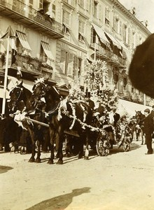 Defile Carnival of Nice France Old Snapshot Photo 1900