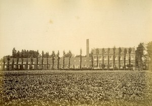 Workshop Textile Factory North France Old Albumen Photo 1870