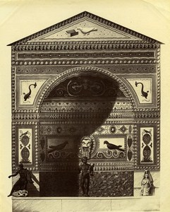 Italy Pompei Roman City Fountain Mosaic Old Photo Sommer ca 1880