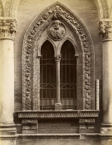 Italy Milano Major Hospital Window Detail Old Photo Brogi 1880