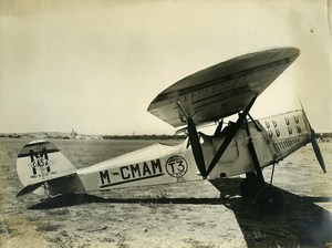 Spanish Airplane Casa III Motor De Havilland Old Aviation Photo ca 1930