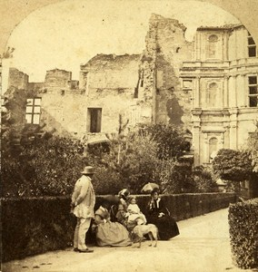 Grignan Castle Drome France Old Stereo Photo Furne & Tournier 1858