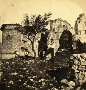 Château du Barroux Vaucluse France Old Stereo Photo Furne & Tournier 1858