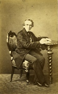 Composer Giacomo Meyerbeer Germany Old CDV Photo Hasse 1865