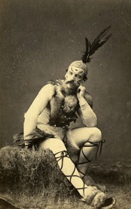 Actor Theater Fancy Algeria Second Empire Old CDV Photo Bertrand 1865