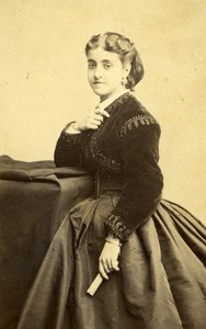Opera Singer Adelina Patti France Old Photo CDV Erwin ca 1870