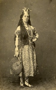 Algeria Actress Fancy Theater France Old Photo CDV Bertrand 1870