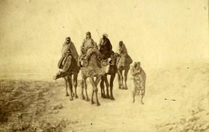 Algeria Beduins Group Painting Alger Old Photo CDV Ricman 1870