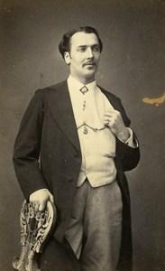 Algeria Man Costume Fashion Old Photo CDV Bertrand 1870