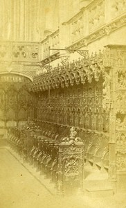 Church Interior Lyon France Old CDV Photo Joguet ca 1870