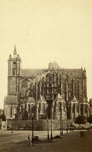 Le Mans Cathedral France Old CDV Photo Gustave 1870