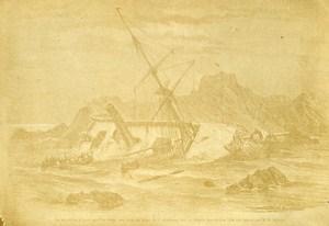 Sinking of Ship Borysthene France Old CDV Photo 1866