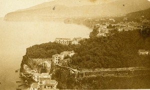 Panorama Capo di Monte Napoli Italy Old CDV Photo Sommer ca 1870