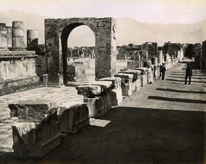 Foro Civile Pompei Italy Old Photo Sommer ca 1880