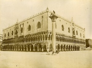 Ducal Palace Venice Italy Old Photo Brusa 1880