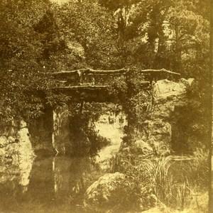 Paris Garden Bridge France Old Stereo Photo 1860