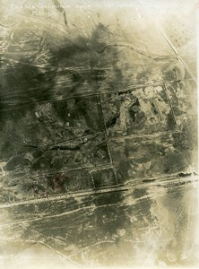 Trench Gulianca Romania Orient War WWI WW1 Old Aerial Photo 1917