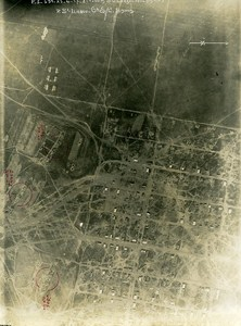Trench Corbu Romania Orient War WWI WW1 Old Aerial Photo 1917