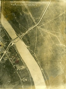 Trench Pont Latinul Romania Orient War WWI WW1 Old Aerial Photo 1917
