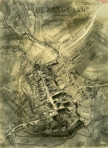 Bezange la Grande Trench France WWI WW1 Old Aerial Photo 1916