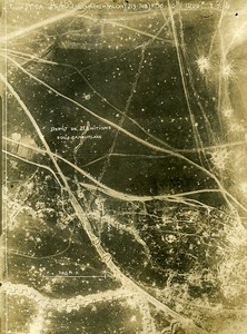 Tilloy les Mofflaines Trench France WWI WW1 Old Aerial Photo 1918
