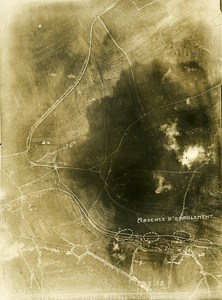 Servon Melzicourt Trench France WWI WW1 Old Aerial Photo 1918
