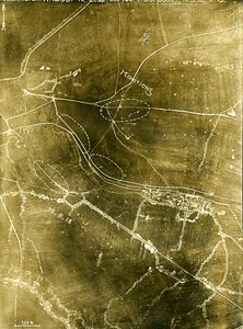 02100 Saint Quentin Trench Elsa France WWI WW1 Old Aerial Photo 1918