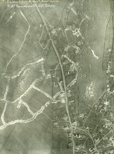 Romania Tip of Dobroge Garvan Orient War WWI WW1 Old Aerial Photo 1917
