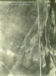 Romania Tip of Dobroge Cote 72 Orient War WWI WW1 Old Aerial Photo 1917