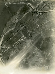 Romania Tip of Dobroge Dobroudja Orient War WWI WW1 Old Aerial Photo 1917
