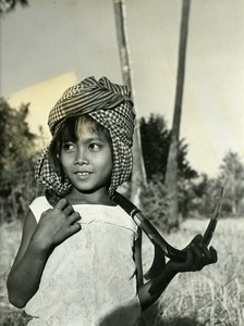 Portrait Sinoun little Cambodian Old Photo Wertheimer 1968