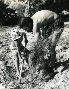 Plantation Portrait Amiram the little Israeli Israel Old Photo Maziere 1965